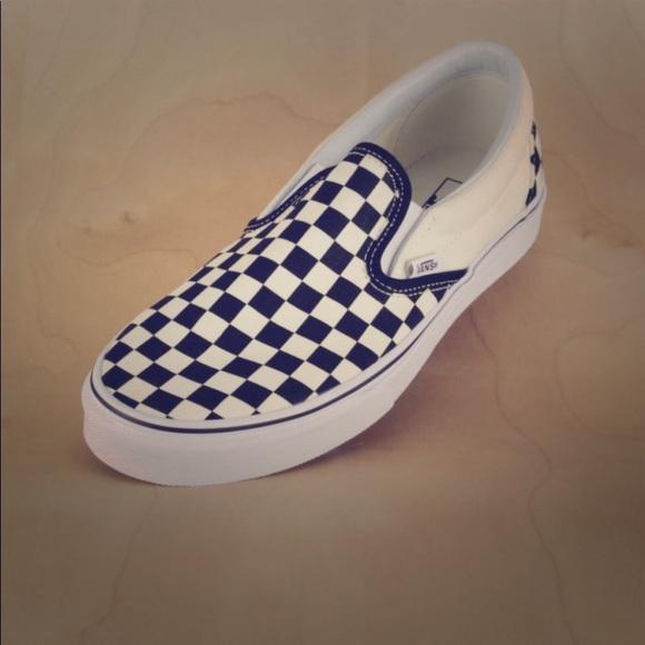 Vans Off-White Black Checkerboard Slip Ons ee161080f